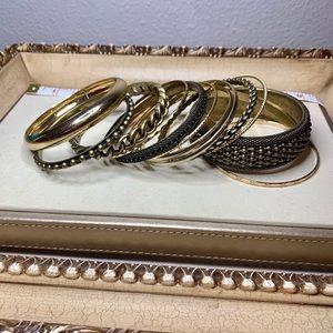 Set of R.J. Graziano Bangle Bracelets - Bronze